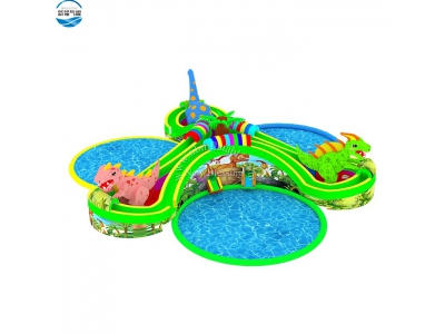 LW59 Cheap prices hot summer giant inflatable water land park with slide and pool for sale