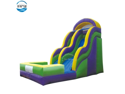 (NBSL-T01) Factory price inflatable slide with pool