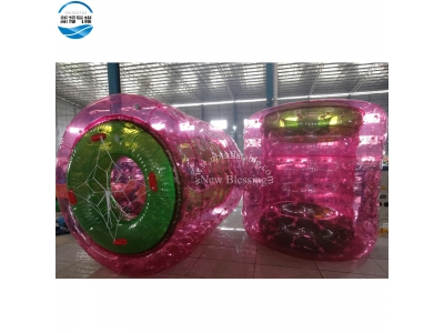 NB-B12 Colorful transparent pvc 2.4x2.2m inflatable water walking rollers
