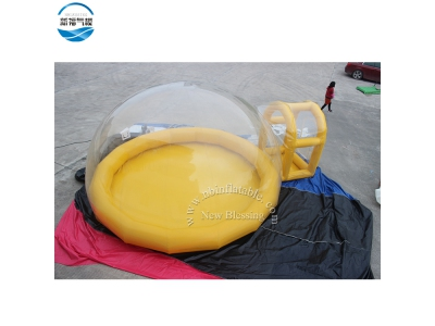 NBTE-08 Inflatable bubble tent with yellow gas column