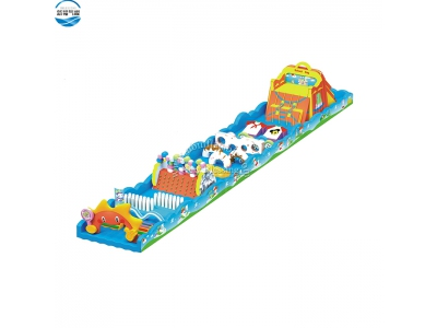 NBOB-1016 sun flower inflatable crazy obstacle game
