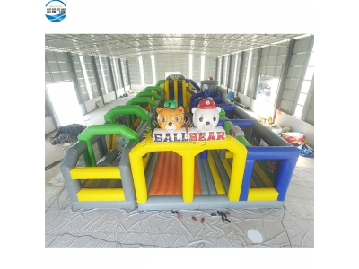 NBOB-1020 inflatable ball bear obstacle course park