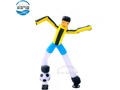 NB-AD10 Football worldcup theme sky air dancer inflatable wave man model for events