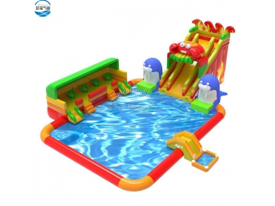 LW46 crab giant inflatable water slide