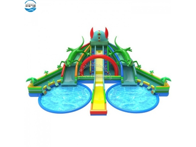 LW49 lizard inflatable water slide for park