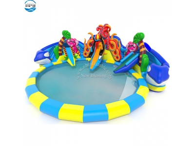 LW50 custom inflatable animals water slide