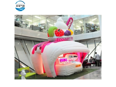 NBTE-75 Hot sale Inflatable ice cream tent mobile dessert station