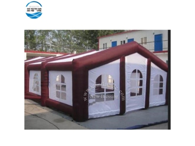 NBTE-84 inflatable house tent with brown gas pipe