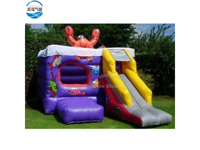 NBCO-1027 Wholesale 5 in 1 sea world inflatable combo/bouncers
