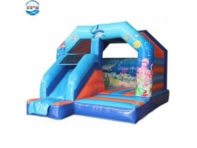 NBBO-1046 Sea world toddler inflatable bounce house with slide