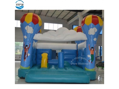 NBBO-1047 Hot air balloon theme inflatable bouncing house
