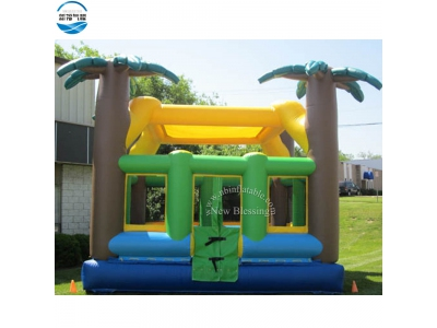 NBBO-1048 Tropical theme customized inflatable jumping bouncer
