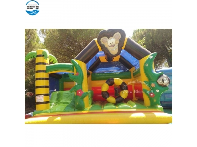 NBBO-1051 Funny inflatable animal park/jumping bouncer with slide