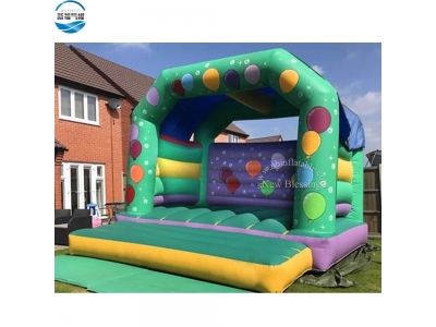 NBBO-1053 5x5m balloon print inflatable bouncy house for sale