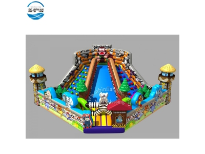 NBFC-33 Inflatabl customized zoo theme funcity with good quality