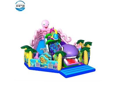 NBFC-35 Inflatable popular customized octopus  theme funcity
