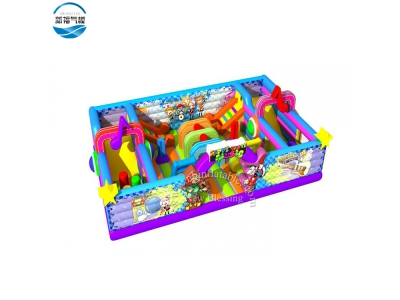 NBFC-40 Inflatable popular customized Candy house theme funcity
