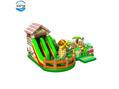 NBFC-41 Inflatable customized farmer theme funcity with slide