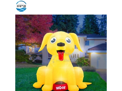 NBCA-09 Inflatable lovely puppy cartoon model for kids