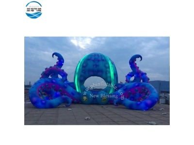 NBCA 13 Giant inflatable blue octopus for outdoor display